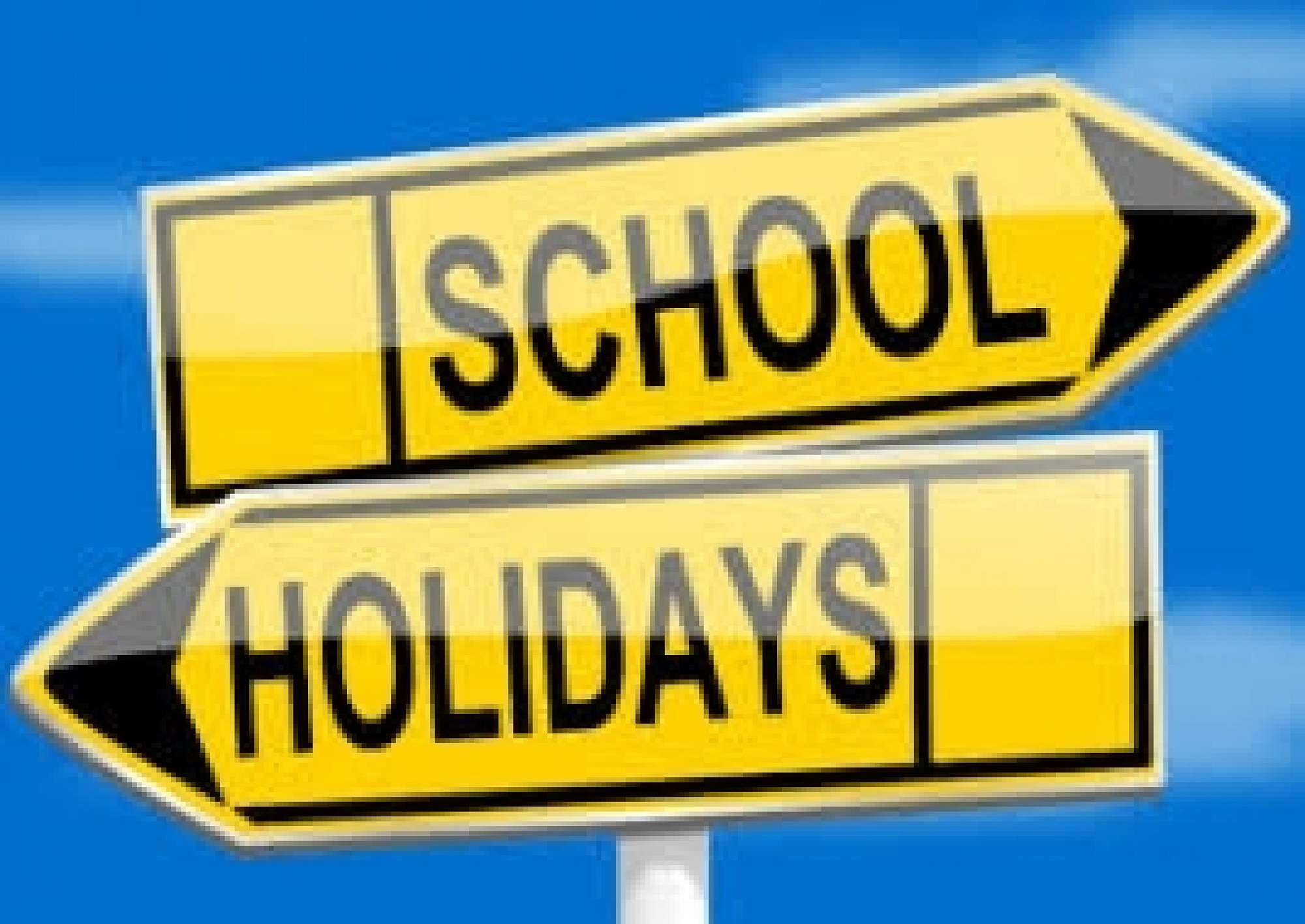 School holidays brought forward