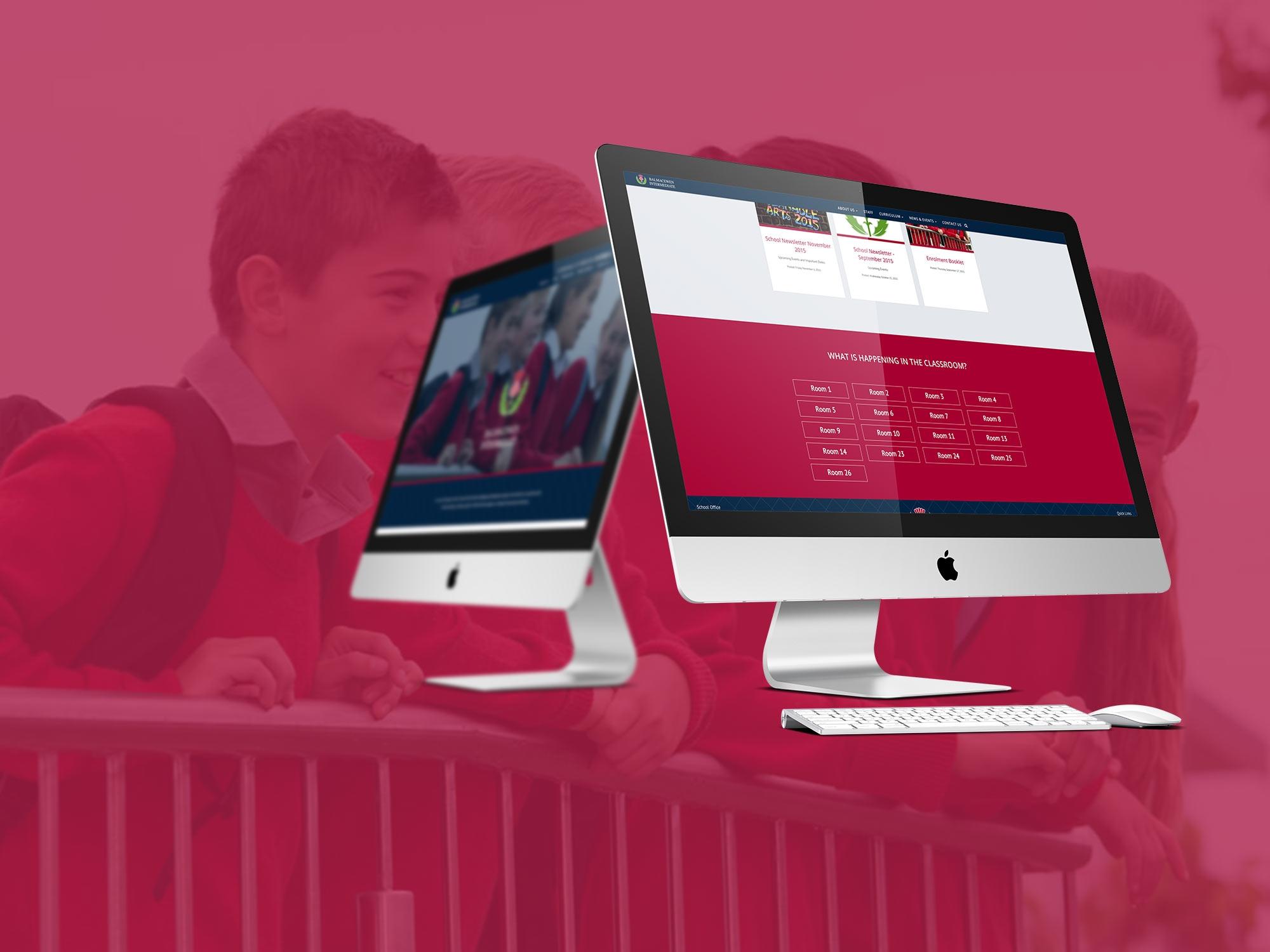 Balmacewen Intermediate responsive website design