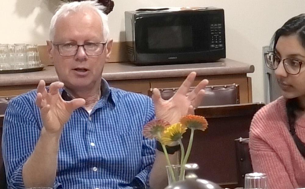 Prof. Bilkey explains the 'Two-Hit' model of Schizophrenia, Noor Batra convening