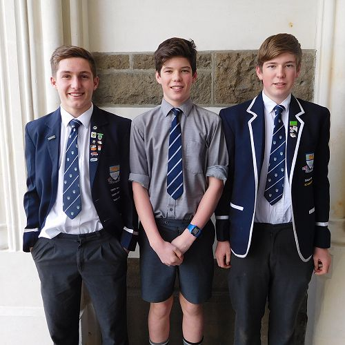 Luke Holden, Hunter Walker and Hamish Walker