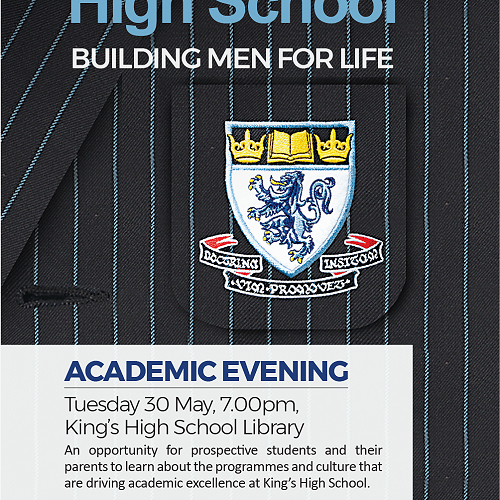 Academic Evening at King's for prospective students and parents.