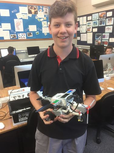 Ben Williams with his remote controlled aircraft m