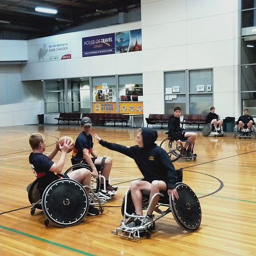 Wheelchair basketball with Year 11 PE