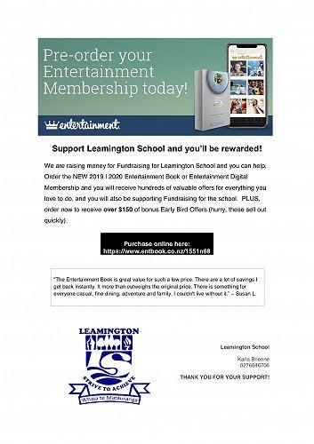 Entertainment Books - Leamington Newsletter - Term 1 Week 9