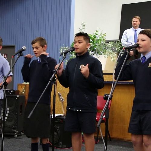 "Video: STC Year 7 and 8 Band: singing ""I want you back"""
