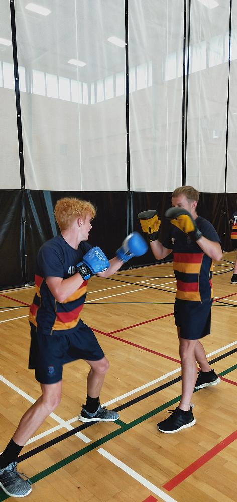 Send it Gus! Year 11 PE practicing boxing skills.