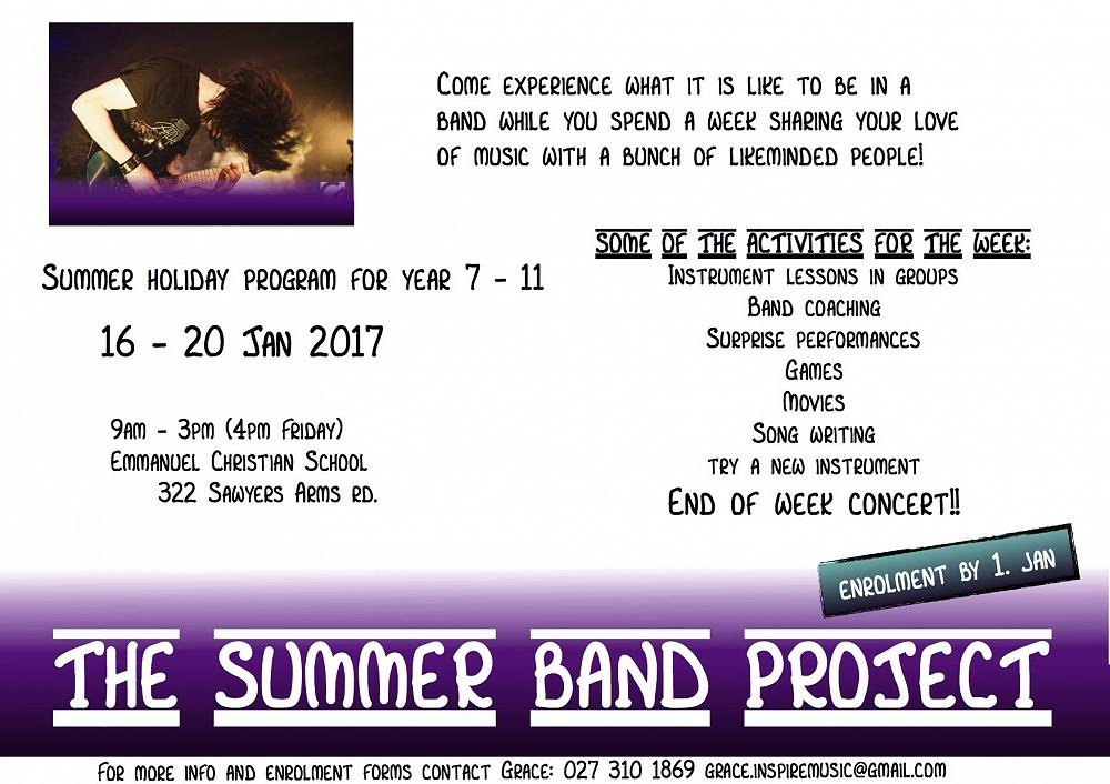 Summer Holiday program details