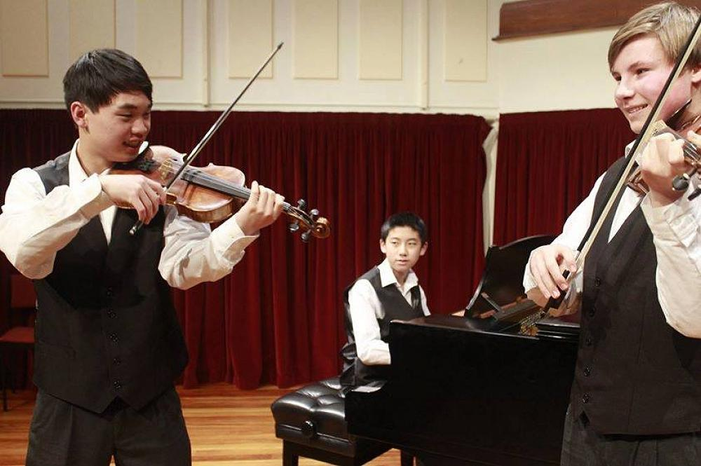 The McGlashan Trio performs at the Chamber Music New Zealand Competition