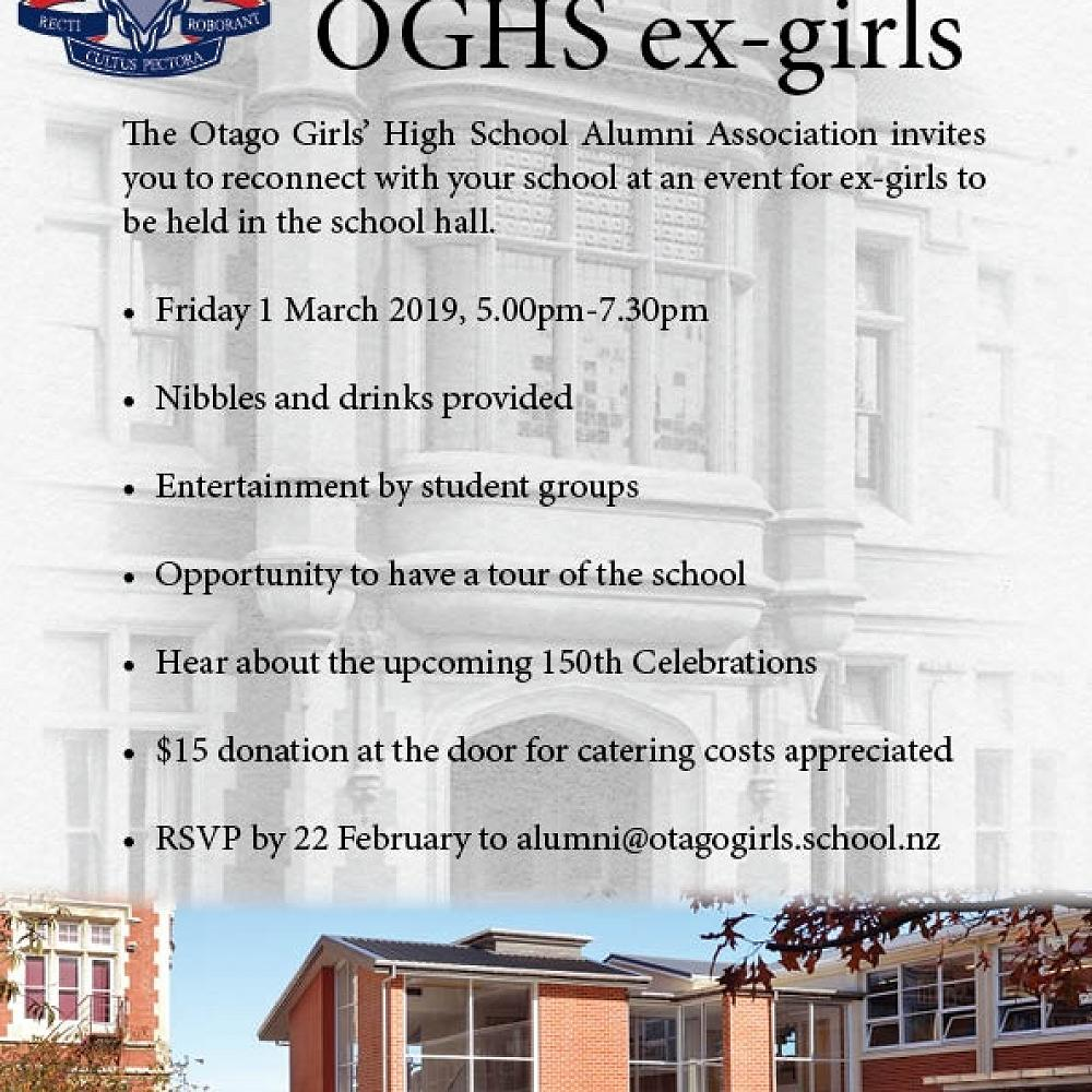 Calling all ex-girls to attend our Alumni function on 1 March