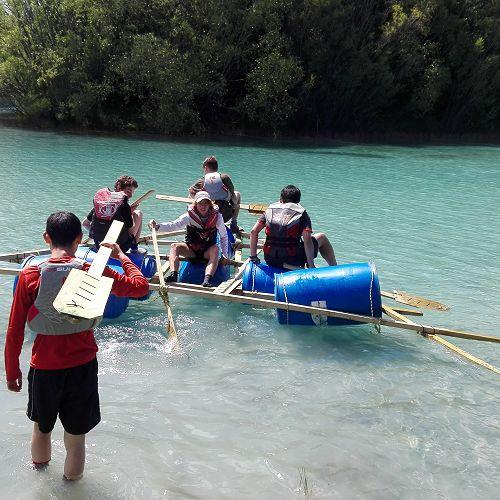 Raft building