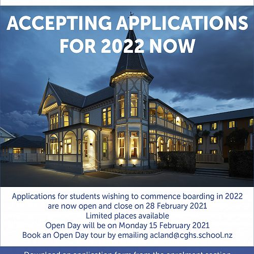 Accepting applications for boarding in 2022