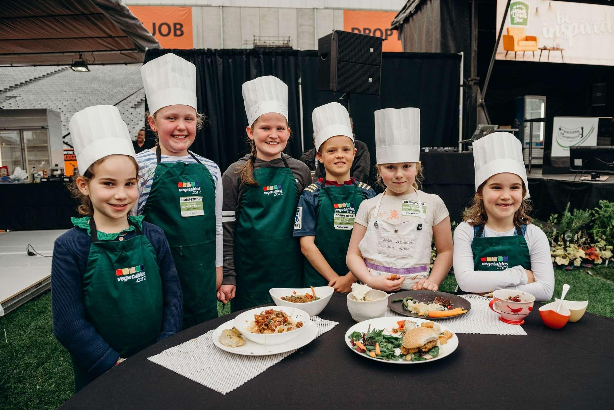 The Finalist of Kiwi Kids Can Cook with their dish
