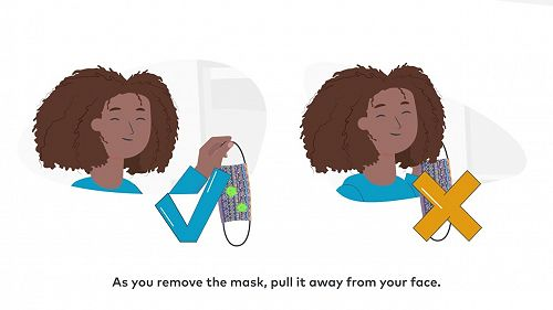 Video: How to wear a fabric mask safely