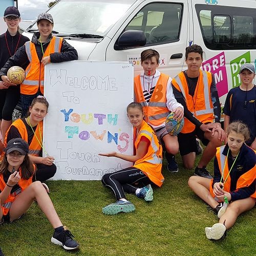 Tauhara College Junior Leaders at the Youth Town Touch Tournament