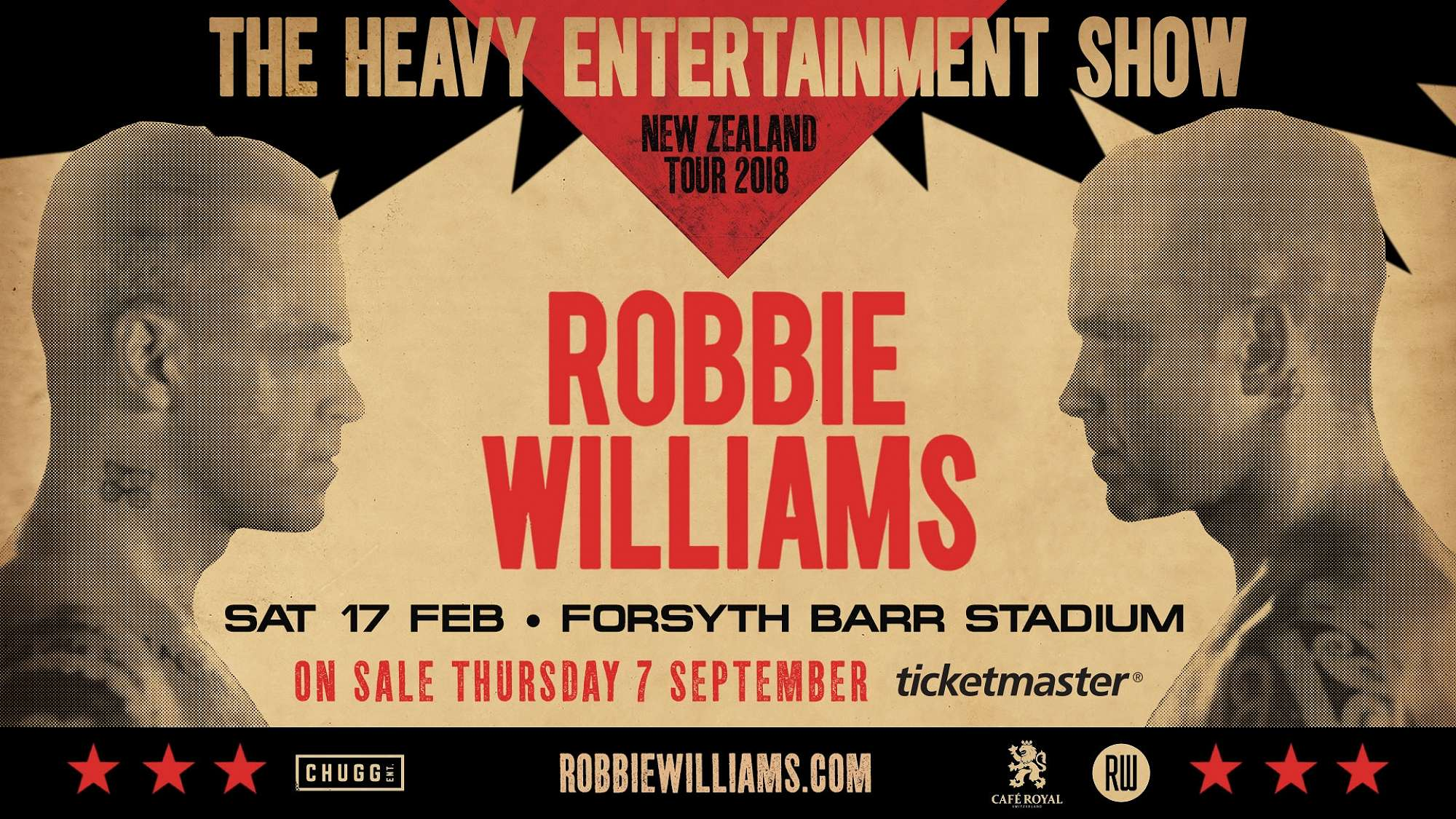Robbie Williams to play at Forsyth Barr Stadium!