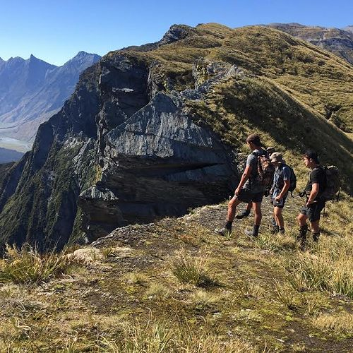 At the top of Cascade saddle on day two, the second alpine crossing of the challenge