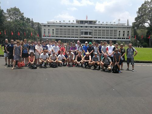 The group at the Reunification Palace, Ho Chi Minh
