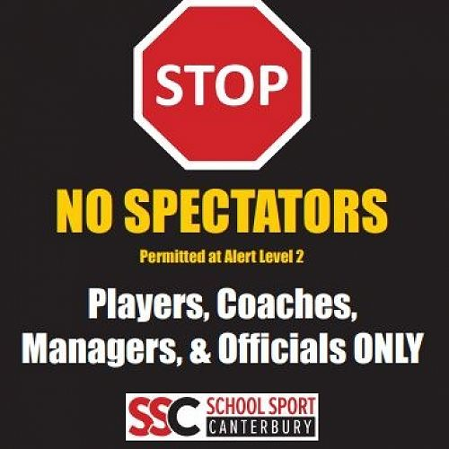 SSC - NO spectators until further notice.