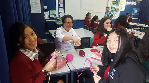 Our lunchtime knitting club