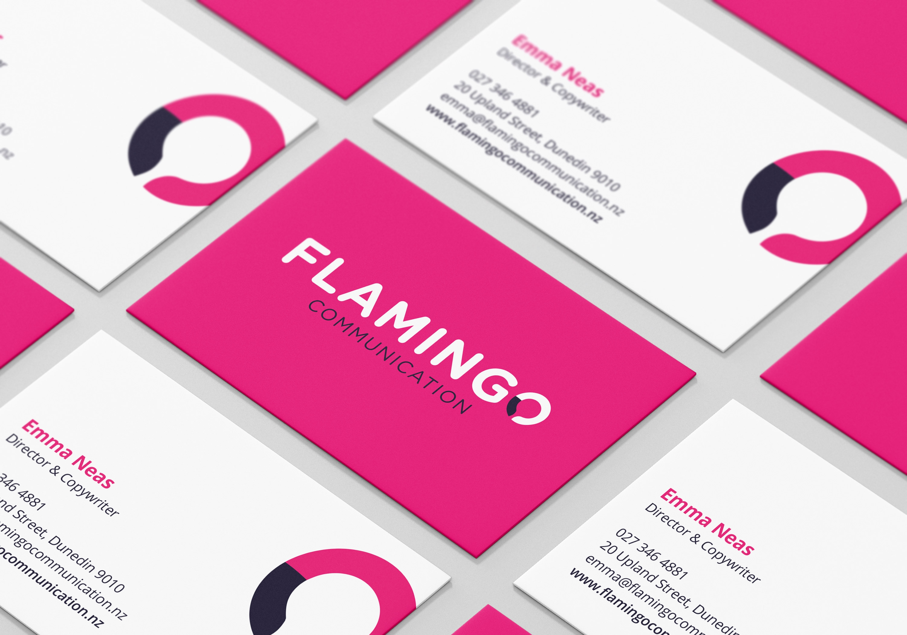 Flamingo Communication Business Cards