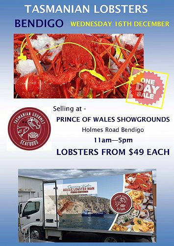Facebook posts let keen Aussies know where the Aussie Lobster Man will be.