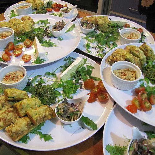 Food prepared by School of Cuisine students