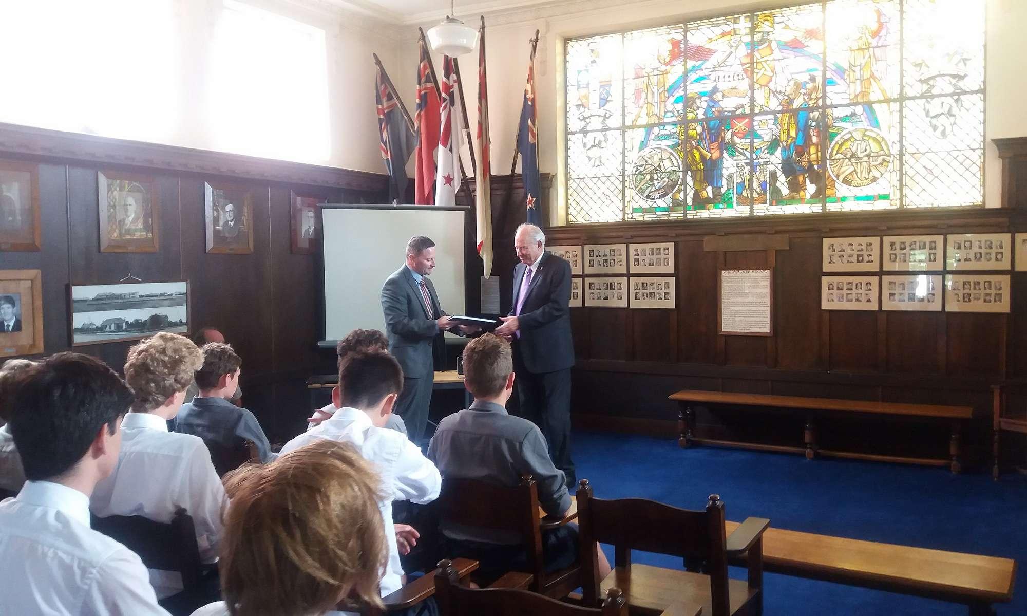Visit from Sir Don McKinnon