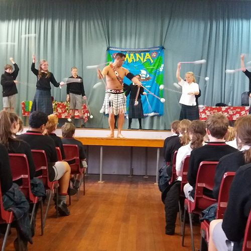 Mana performance with Year 7 & 8 students