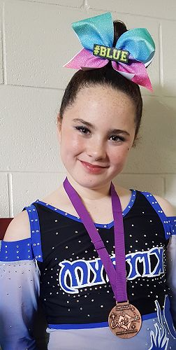 Elena proud of her medal