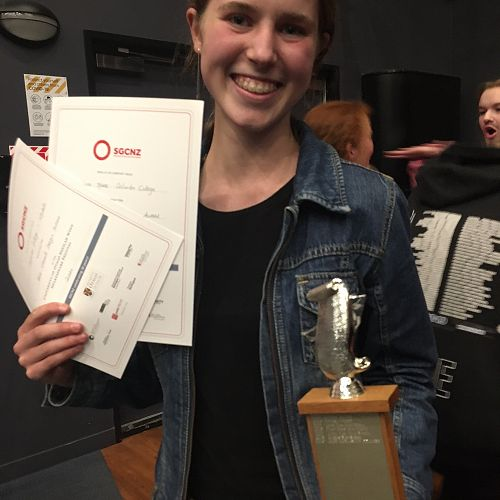 Penelope Hare holds three of the top awards: Student Director; Student Directed Five-Minute; Best Overall Design