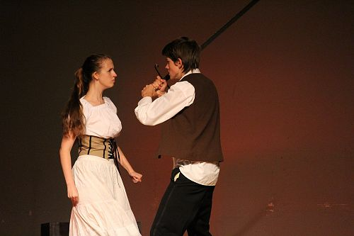 Olivia and Ben during performance at Sheilah Winn Festival