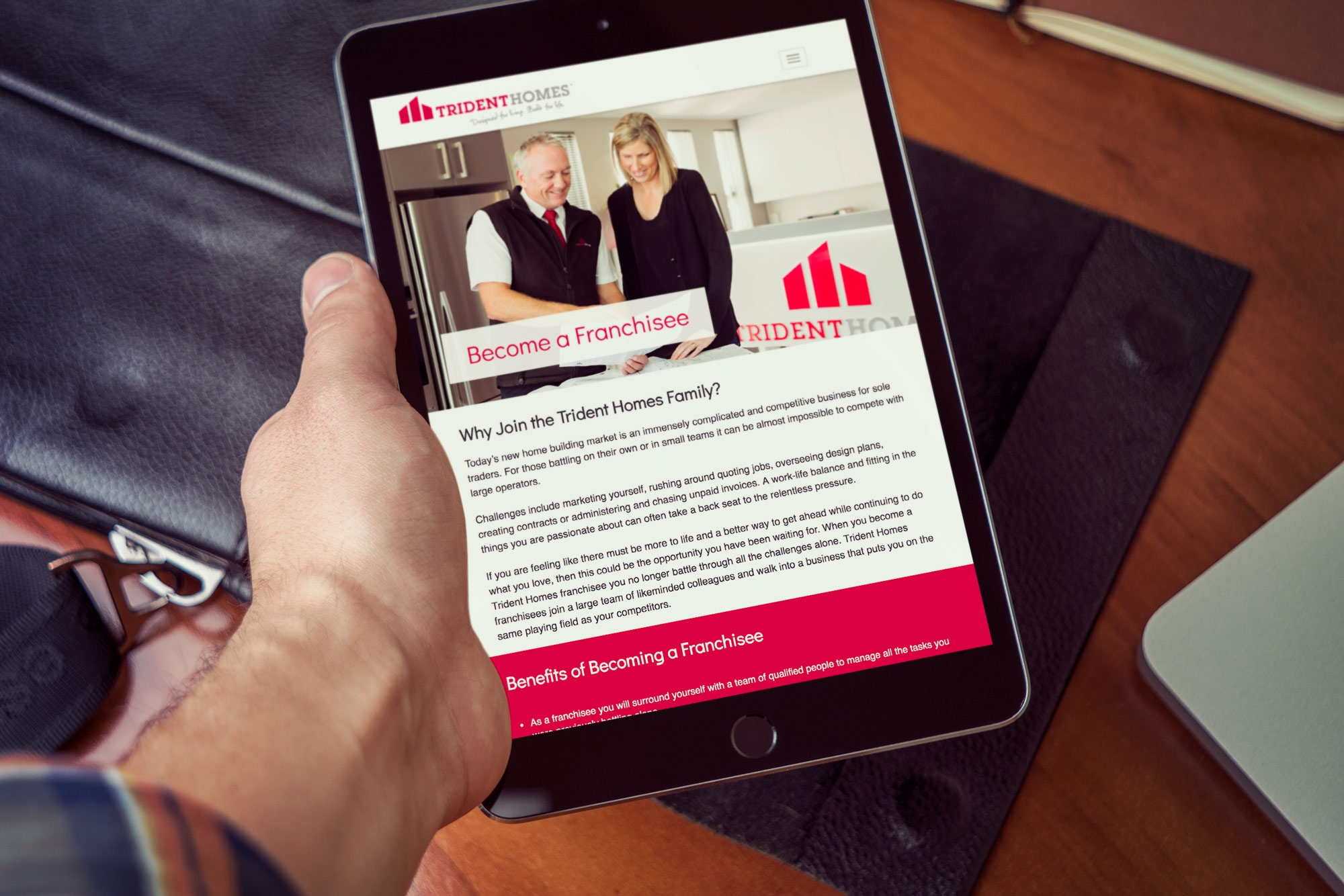 Trident Homes on iPad