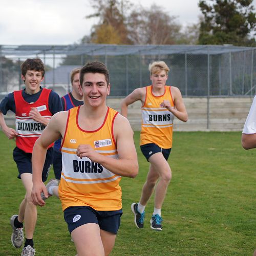 Senior students race in the cross country