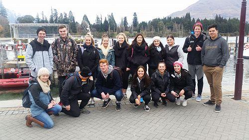 Year 13 students with Ms Prescott in Queenstown