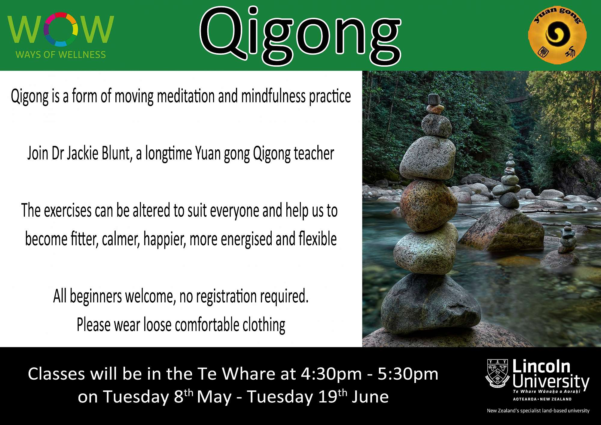 Qi Gong is back - starting tomorrow!