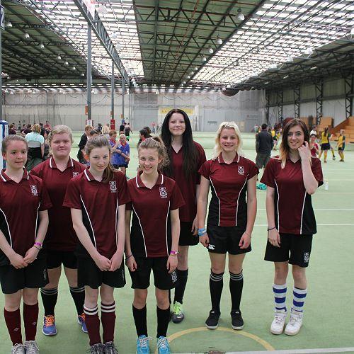 Futsal term 4 Junior Girls 1 team - Div 2 winners 2013