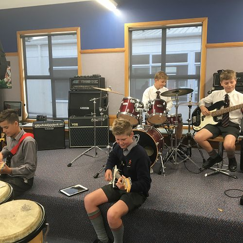 S.E.E.K. Bandquest practice - hard at work