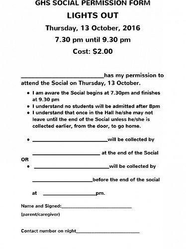 Social Permission Form