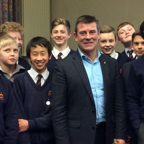 JMC students with Michael Woodhouse