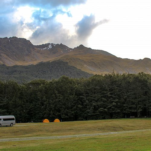 The campsite at the North Mavora Lake