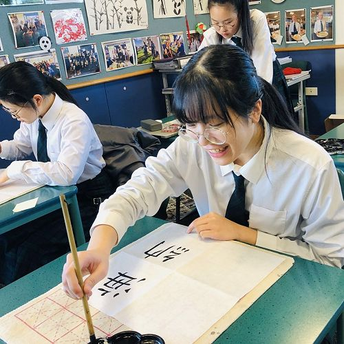 Year 11 Kalyaporn Maicharoen (front)- Soft-pen Chinese Calligraphy Painting