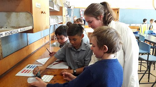 St Joseph's visit to the science labs.