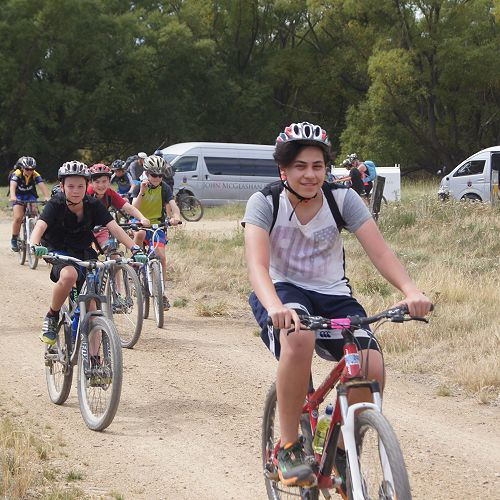 Mason Calvert rides up the Ida Valley