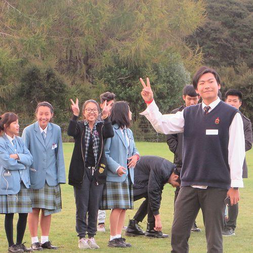 Charlie Geng from Hong Kong making new friends