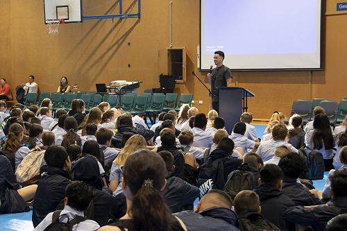 Hubs lead teacher, Mr Tan, welcomes students