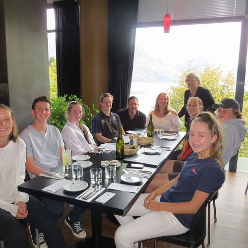 Hungry class after a busy day in the vineyards...