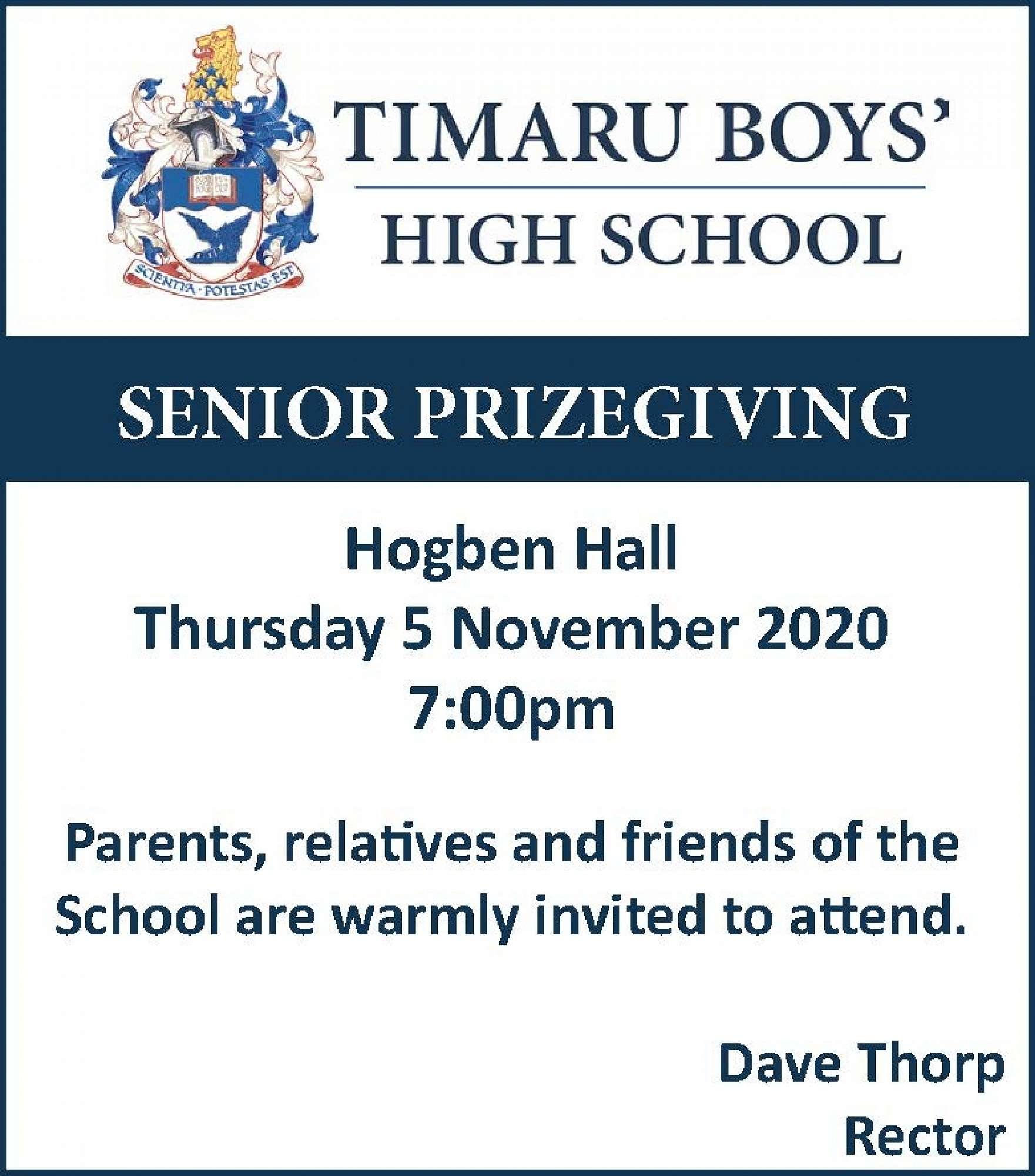 Senior Prizegiving 2020