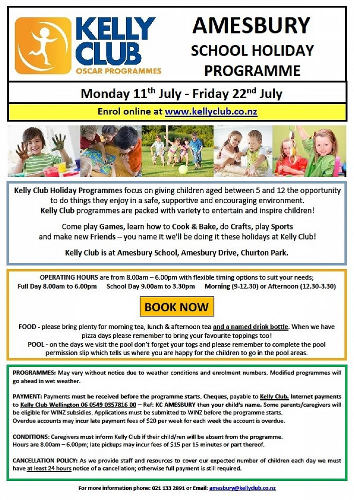 School Holiday Programme and Term 3 Kelly Sports