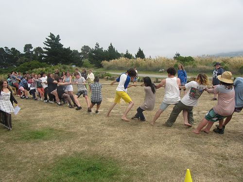 Omimi House Day tug-of-war