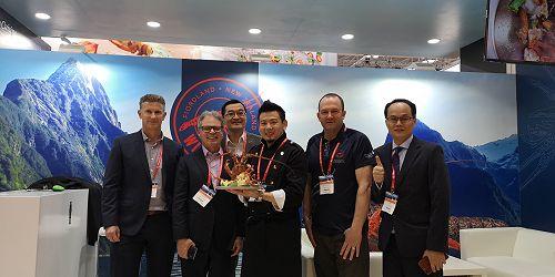Team Qingdao (from left): Andrew Harvey, Alan Buckner, Joe Zhong,Chef Reggie Li, David Prendergast, Simon Fan.